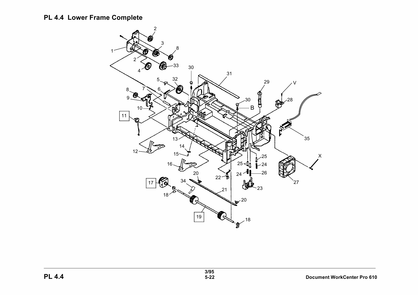Xerox WorkCentre Pro-610 Parts List Manual
